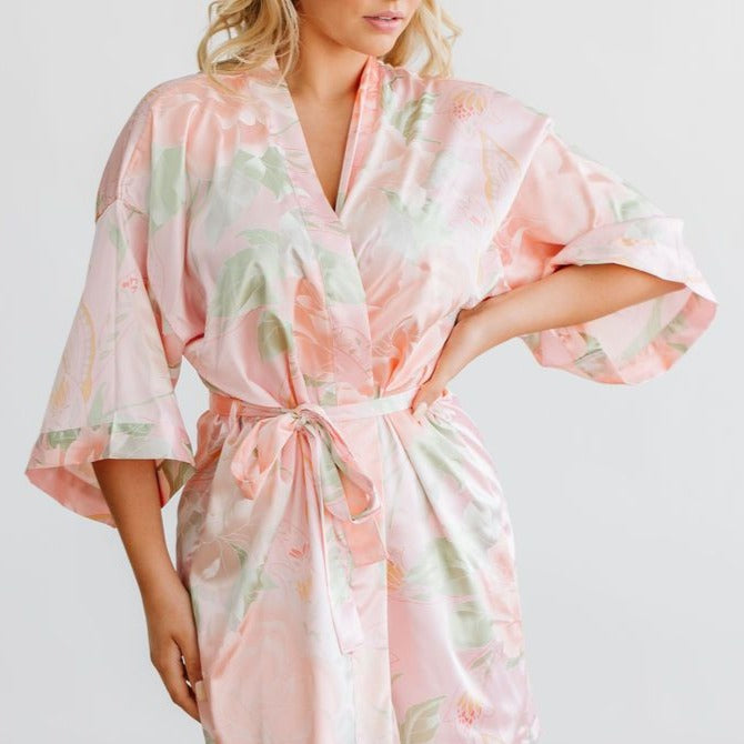 Blush Big Floral Robe