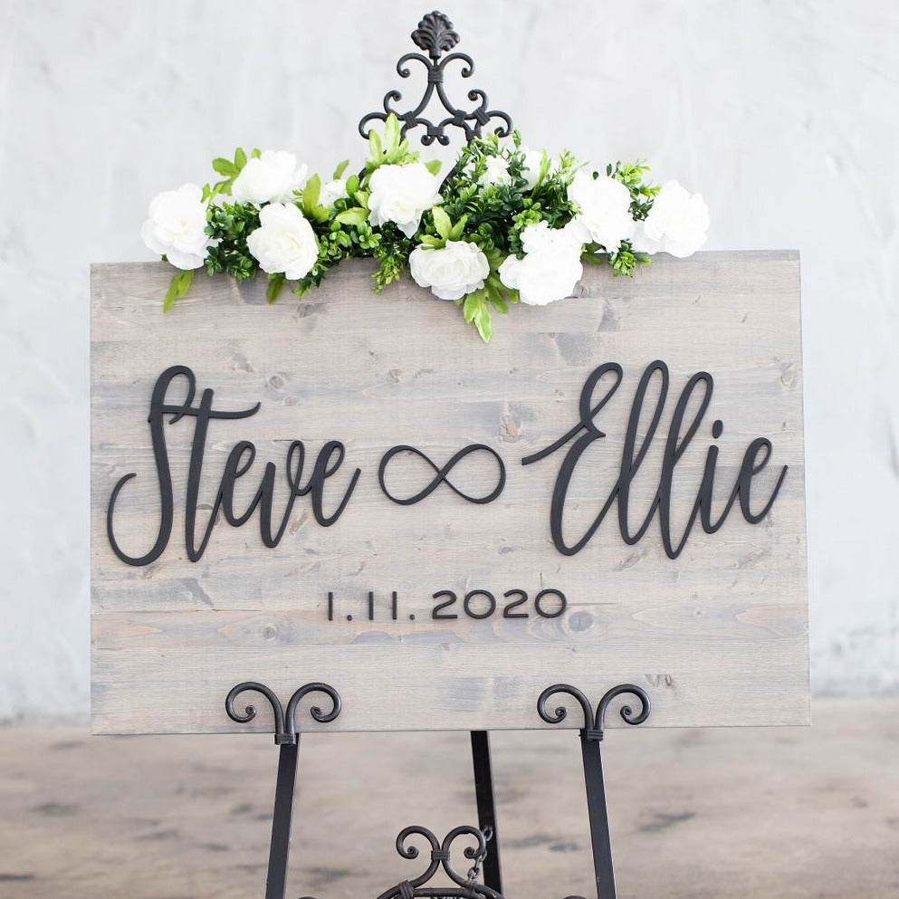 Infinity Wedding Sign