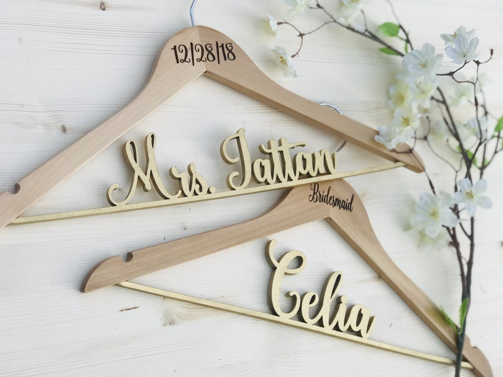 Personalized Wood Name Hangers