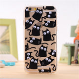 iPhone 4 4S 5 5S 5SE 6 6S 7 Plus Silicone Soft TPU Sleeve - Cats Love Life