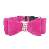 Cat Bow Tie With Rhinestones In Soft Velvet - Cats Love Life