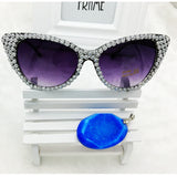 Crystal Diamond Cat Eye Sunglasses - Cats Love Life