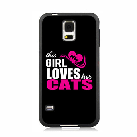 This Girl Loves Her Cats TPU Case for Samsung Galaxy and iPhones - Cats Love Life