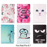 iPad Pro 9.7 Pattern Folio PU Leather Cases - Cats Love Life