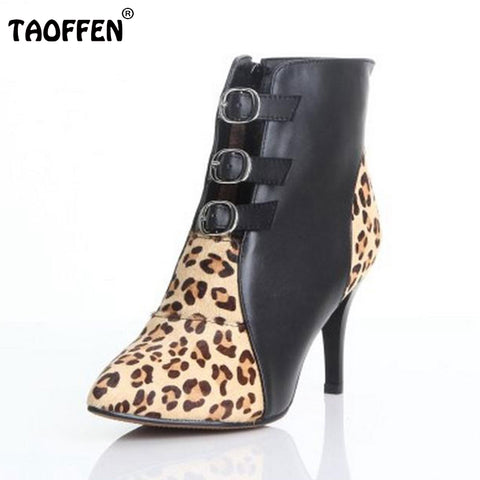 Leopard Women's Ankle Boots In Many Colors - Cats Love Life