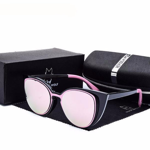 Pink Mirror Cat Eye Sunglasses - Cats Love Life