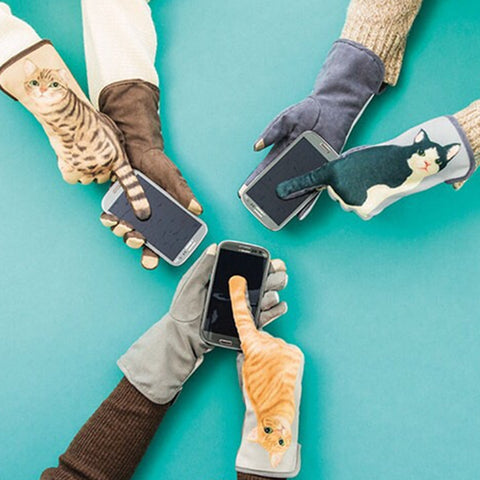 Touch Screen Cat Tail Gloves - Cats Love Life
