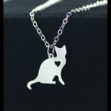 Custom Engraving Stainless Steel Kitten Pendant