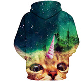 Caticorn Kitty Hoody Sweat Shirt