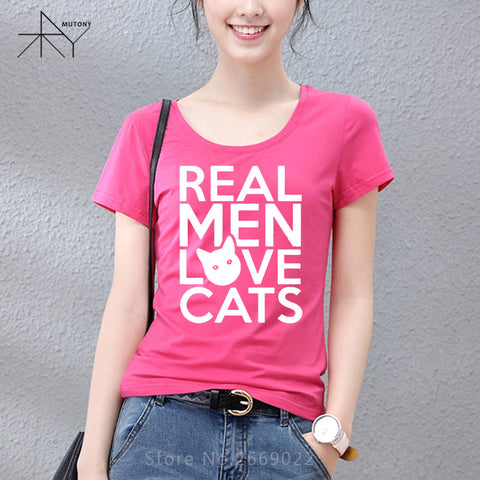 Real Men Love Cats T-Shirt In Many Colors - Cats Love Life