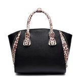 Leopard Print Zipper Tote Bag - Cats Love Life