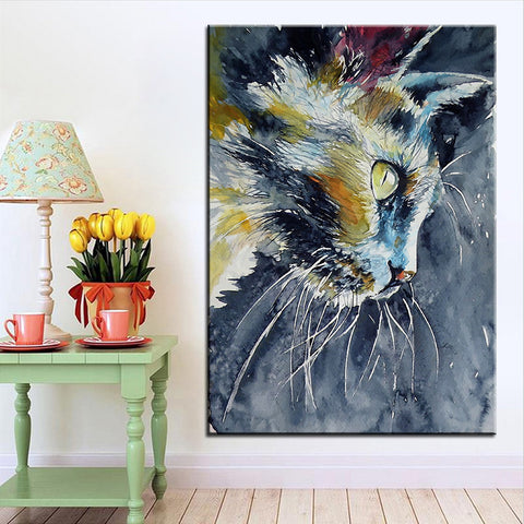 Look At Those Whiskers Oil Printed On Canvas Painting - Cats Love Life