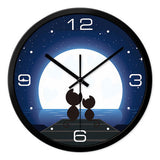 Love Cats Under The Moon Wall Clock - Cats Love Life