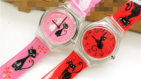 Water Resistant Silicone Band Cat Watch - Cats Love Life