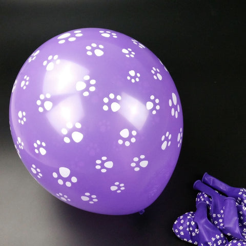 Paw Print Party Balloons Pack Of 50