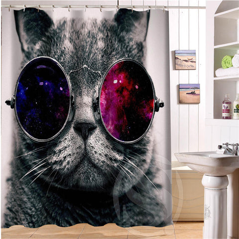 Your Cat On A Personalized Custom Shower Curtain Or Pick From Many Fun Prints - Cats Love Life