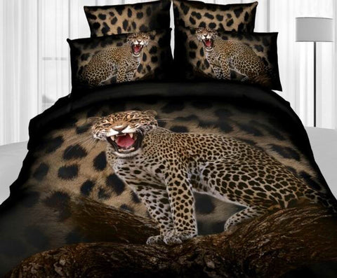 Leopard Print Styling Bedding Set - Cats Love Life