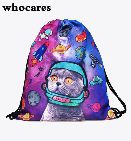 Cute Cat Drawstring Bags - Cats Love Life