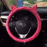 Cute Cat Ears Style Car Steering Wheel Cover Anti-Slip - Cats Love Life