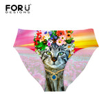 Cute Floral Cat Seamless Underwear - Cats Love Life