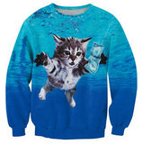 So Many Funny Cat Print Sweatshirts - Cats Love Life