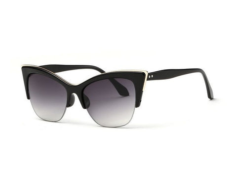 Half-Frame Cat Eye Sunglasses - Cats Love Life