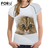 Cute Cat Print T-Shirt For Summer - Cats Love Life