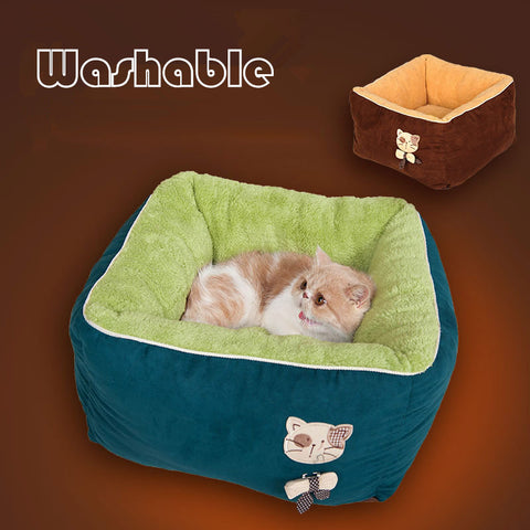 Winter Warm Washable Fleece Cat Bed - Cats Love Life