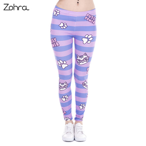 Power Pink Stripes Cat Paw Leggings - Cats Love Life
