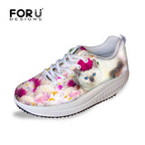 Cute Cat Floral Printed Walking Sneaker - Cats Love Life