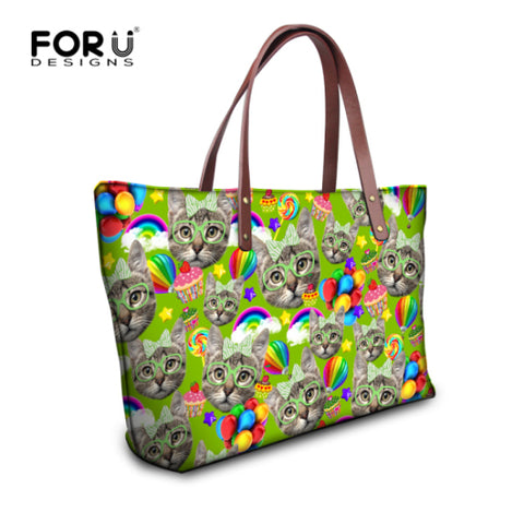 Cute Kitty Cat Print Handbag - Cats Love Life