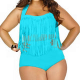 Plus Size Swimwear High Waisted Bikini Set Tiger Print And Many Colors - Cats Love Life