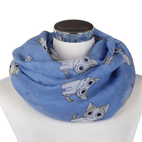 Lightweight Lovely Cat Print Scarves - Cats Love Life