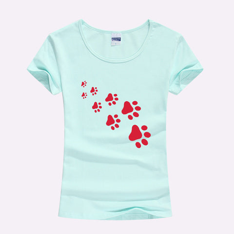 Cat Paws Print Ladies T-Shirt