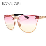 ROYAL GIRL Rimless Cat Eye Oversize Vintage Eyeglasses - Cats Love Life