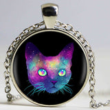 Cats In Space Glass Dome Pendant - Cats Love Life