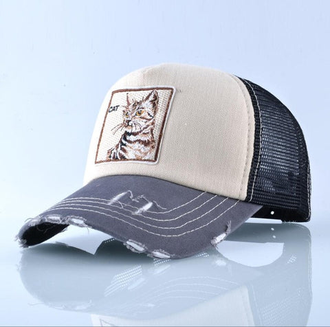 Super Cool Patch Cat Baseball Cap - Cats Love Life