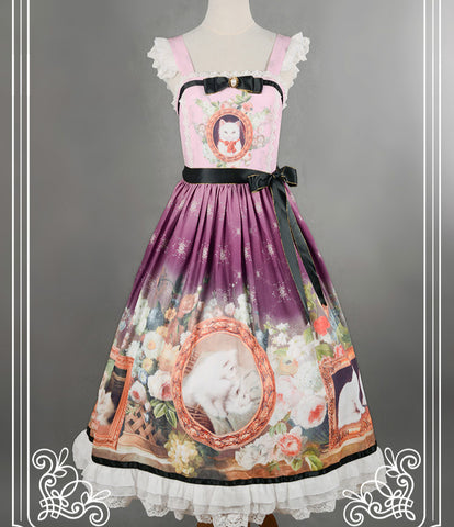 Soufflesong Branded Lolita Dress Sweet Cat in Courtyard P - Cats Love Life