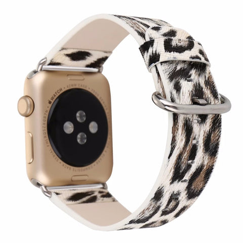 Leopard print Watch Band For 38/42mm Apple Watch - Cats Love Life
