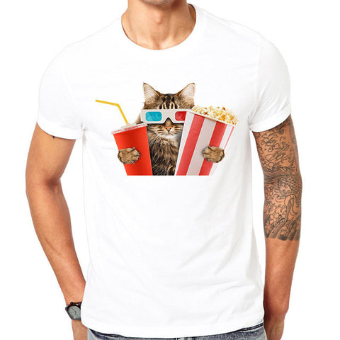 Ready For The Movies Cat T Shirt - Cats Love Life
