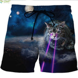 Mens Cat Print Swimsuit Shorts - Cats Love Life