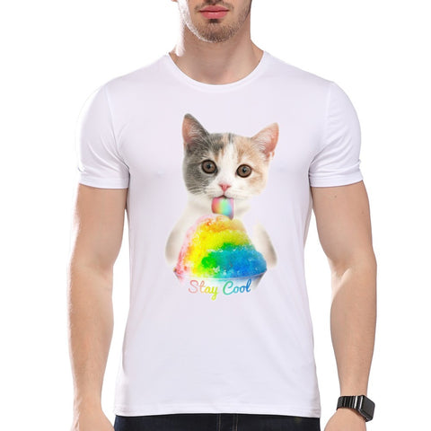 Cat Staying Cool Men's T-Shirt - Cats Love Life