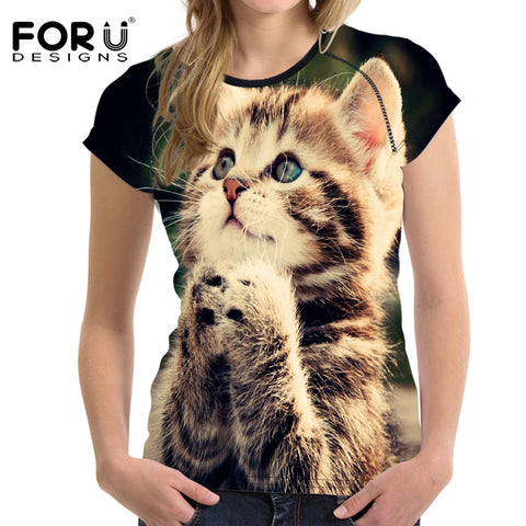 Summer Lovely Kitty T-Shirts - Cats Love Life