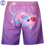 Men's Beach Beach Shorts - Cats Love Life