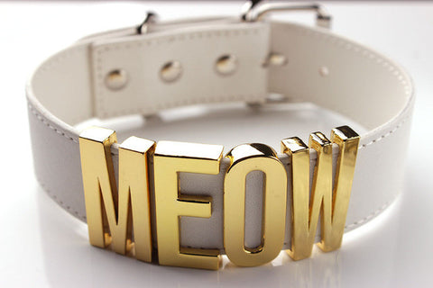 Black Meow Choker Necklace - Cats Love Life