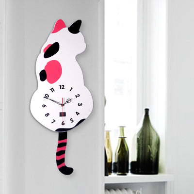 Cat Looking Back Wall Clock - Cats Love Life