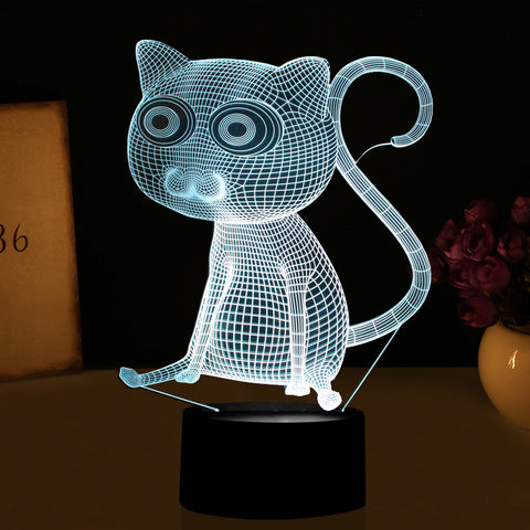 Big Eyes Cat Lamp Color Changing LED   Cats Love Life
