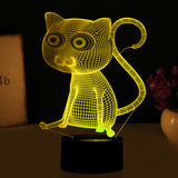 Big Eyes Cat Lamp Color Changing LED - Cats Love Life
