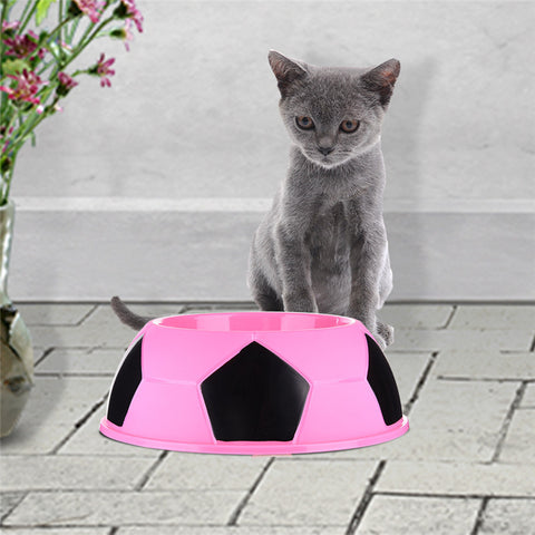Candy Color Soccer Shaped Cat Bowl - Cats Love Life