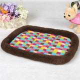 Colorful Plaid Mat Cat Bed - Cats Love Life